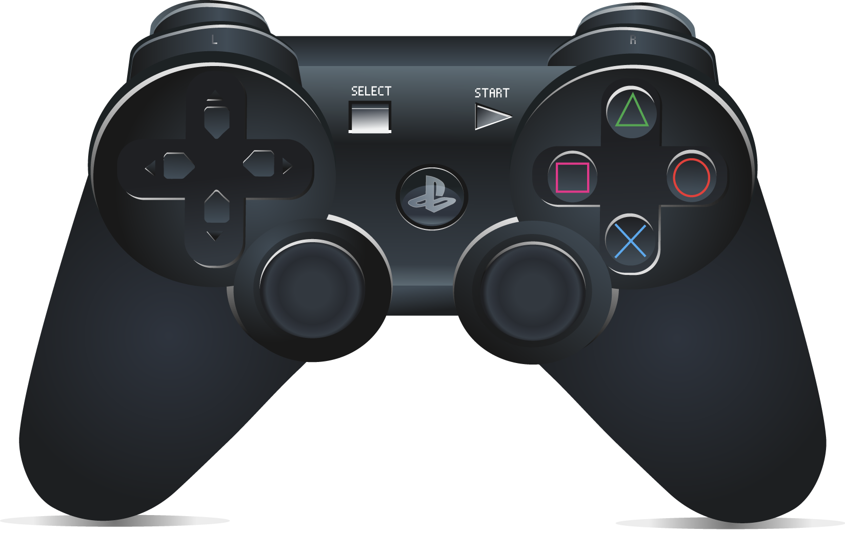 ps4 controller transparent png pictures free icons and - HD1648×1041
